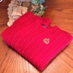 Red Lauren Ralph Lauren Vintage Cable-Knit Sweater